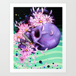 Pushing Up Daisies painting Art Print