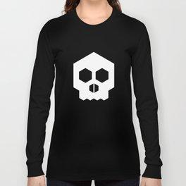 hex geometric halloween skull Long Sleeve T-shirt