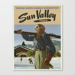 Vintage poster - Sun Valley Canvas Print