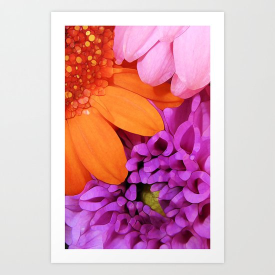 FLOWERS ARE HOT (they'll brighten any day!) Art Print
