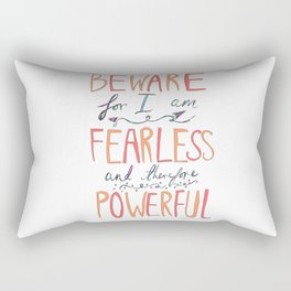BEWARE, FEARLESS, POWERFUL: FRANKENSTEIN by MARY SHELLEY Rectangular Pillow