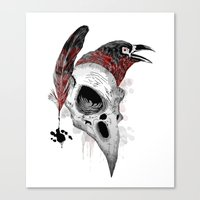writer Canvas Prints featuring DARK WRITER by TOXIC RETRO