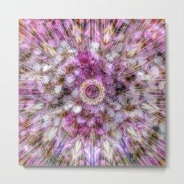 Floral fusion mandala Metal Print