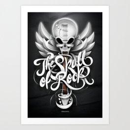 The Skull of Rock! Art Print