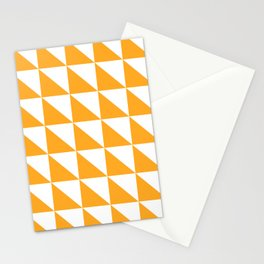 Geometric Pattern 01 Yellow Stationery Cards