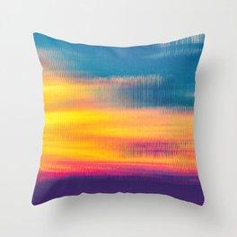 Glitch Glow Throw Pillow
