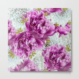 Summer bouquet of purple and white flowers - #Society6 #buyart Metal Print
