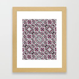 Vibrant Exotic Boho Ornate Pattern Framed Art Print