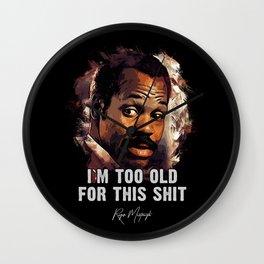 Danny Glover as Roger Murtaugh Wall Clock