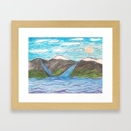 A Very Simple Landscape Framed Art Print