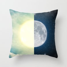 As each day ends... Throw Pillow
