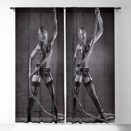 Lingerie and Rope Blackout Curtain