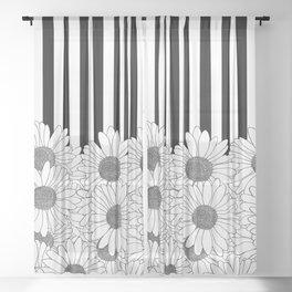 Daisy Stripe Sheer Curtain