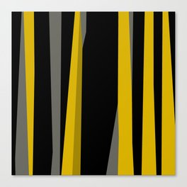 yellow gray and black Canvas Print