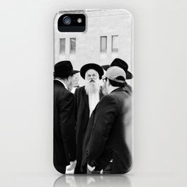 The Western Wall in the Old City, Jerusalem, Israel | Holy-place, religious jewish men talking | Fine art print photography  iPhone Case