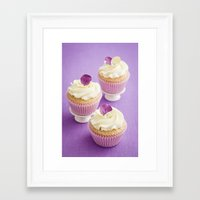 cupcakes Framed Art Prints featuring Cupcakes by Elisabeth Coelfen
