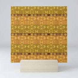 ethnic african pattern withAdinkra simbols Mini Art Print