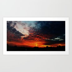 The Sky is on Fire Art Print