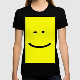 smile face yellow funny logo T-shirt