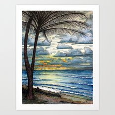 Kauai Sunrise Art Print