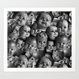 Creepy baby Art Print