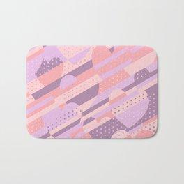 Sweet Heart Pattern (Pastel Coral Pink, Lavender) Bath Mat