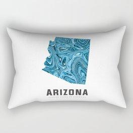 Arizona - State Map Art - Abstract Map - Blue Rectangular Pillow