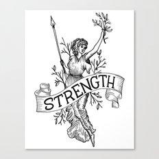 Warrior woman Canvas Print