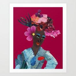 Antonia red Art Print