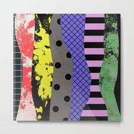 Pick A Pattern - Abstract, Textured, Stripes, Polka Dot, Grid, Paint Splatter Metal Print