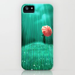 Rainy hill iPhone Case