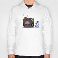 tv Hoodies featuring Television by Mountain Top Designs