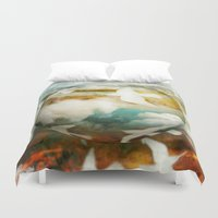 fifth harmony Duvet Covers featuring Harmony by SpaceFrogDesigns