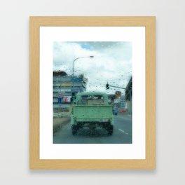 Rainy Days and Vintage Vehicles Framed Art Print