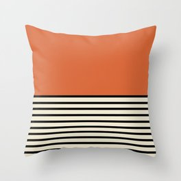 Sunrise / Sunset - Orange & Black Throw Pillow
