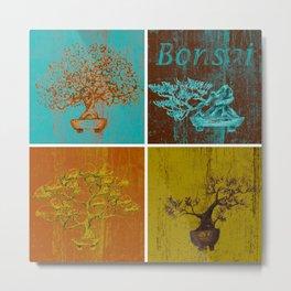 Bonsai Plants Shirt I Azalea Wisteria Ficus Redwood Tree Metal Print