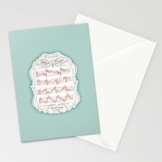 The Sound of My Heart Beat Stationery Cards