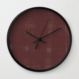Mahogany Organza Wall Clock