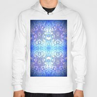 frozen Hoodies featuring Frozen Stars Periwinkle Lavender Blue by 2sweet4words Designs