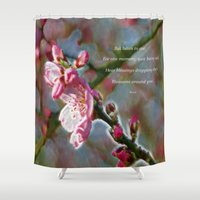 poem Shower Curtains featuring Poem from Rumi by Lucia