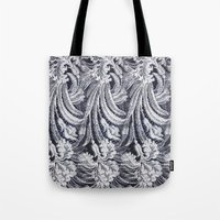 lace Tote Bags featuring WHITE LACE by BellagioVista