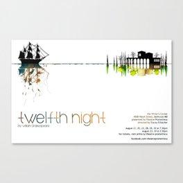 """Twelfth Night"" poster Canvas Print"