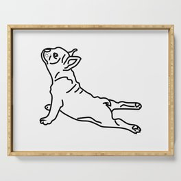 Yoga Frenchie Serving Tray