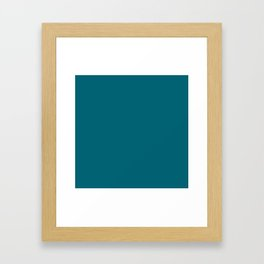 Jacksonville Football Team Teal Green Blue Solid Mix and Match Colors Framed Art Print
