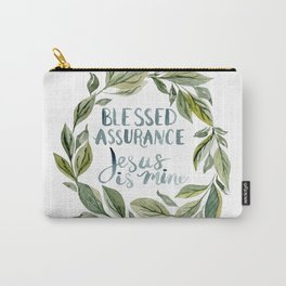 Watercolor Hymn Blessed Assurance Carry-All Pouch
