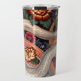 White Snake in the Autumn Garden Travel Mug