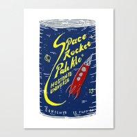 ale giorgini Canvas Prints featuring Space Rocket Pale Ale by Moto