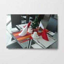 Table setting  for breakfast Metal Print