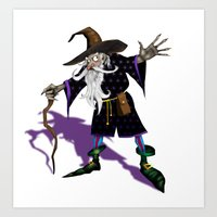 wizard Art Prints featuring Wizard by Noughton