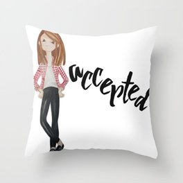 Accepted Throw Pillow